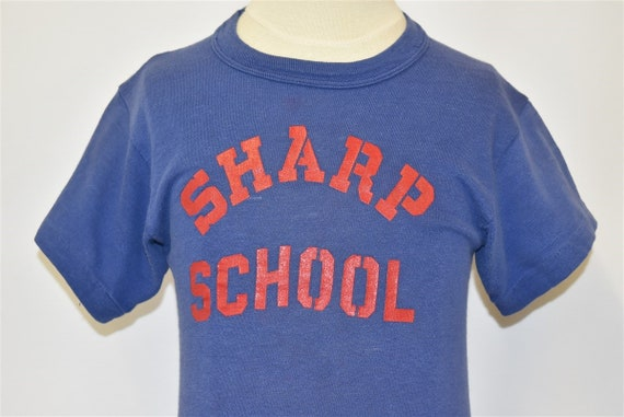 50s Sharp School Gym t-shirt Youth Medium - image 1
