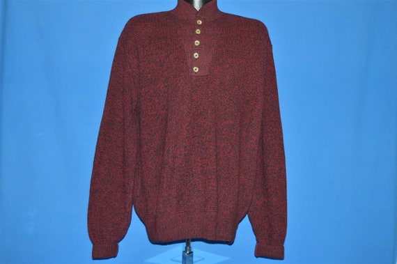 80s LL Bean Red Heathered Sweater Large - image 2