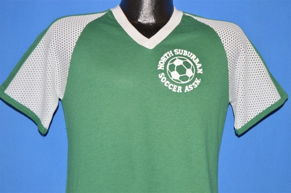 70s North Suburban Soccer Association Jersey t-shi