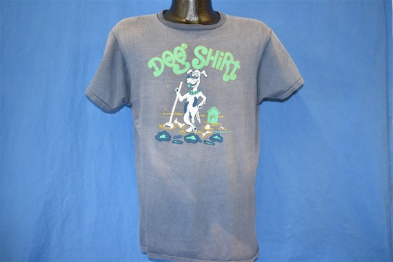 70s Dog Shirt Distresesd t-shirt Large - image 2