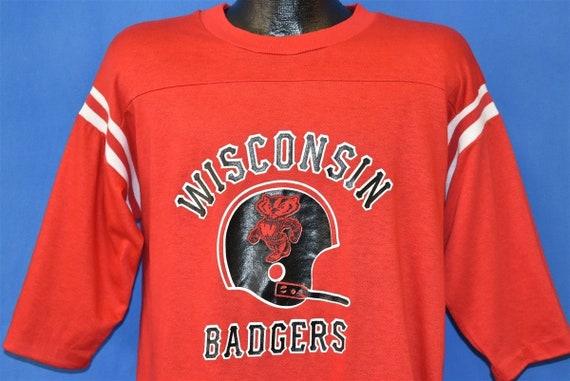 70s Wisconsin Badgers Mascot Jersey t-shirt Extra