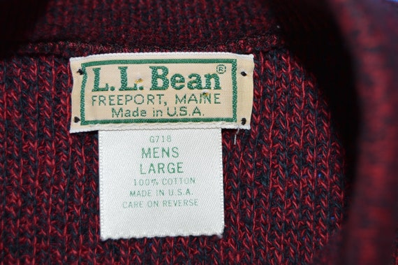 80s LL Bean Red Heathered Sweater Large - image 3