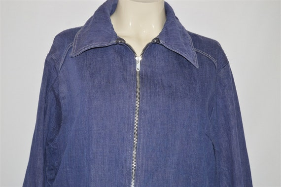 50s Anvil Workwear Denim Jacket Womens Large