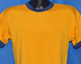 50s Southern Athletic Gold Blue Ringer Jersey t-shirt Medium