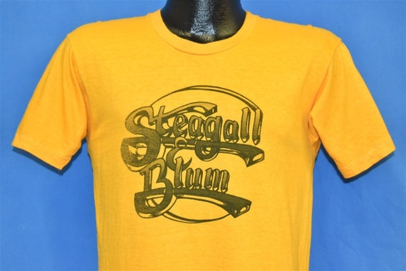 70s Steagall and Blum Logo Yellow Soft t-shirt Sma
