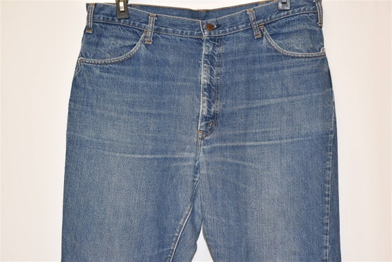 70s Levis Orange Tab Denim Blue jeans Size 39  - image 4