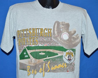 90s Pittsburgh Pirates Boys of Summer Heathered Gray Vintage t-shirt Large