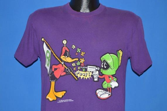 90s Marvin The Martian Daffy Duck Peace Flag t-shirt Medium  ae02618a8