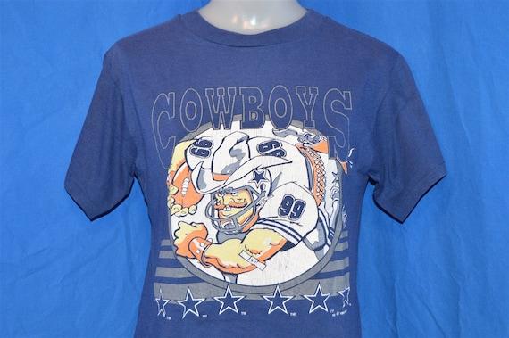 90s Dallas Cowboys 99 Jack Davis Cartoon Blue Vintage t-shirt  26b932b68