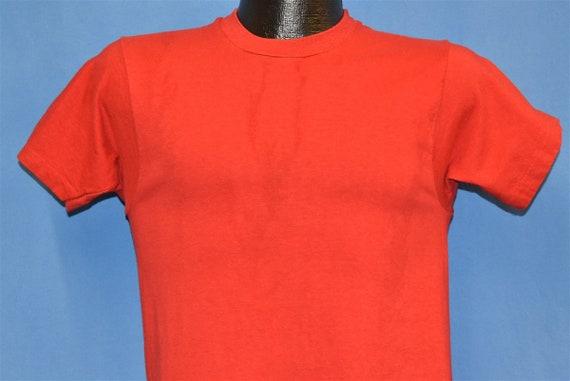 70s Blank Minimalist Red Soft Box Tag t-shirt Smal