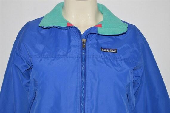 90s Patagonia Blue Fleece-Lined Windbreaker Jacket