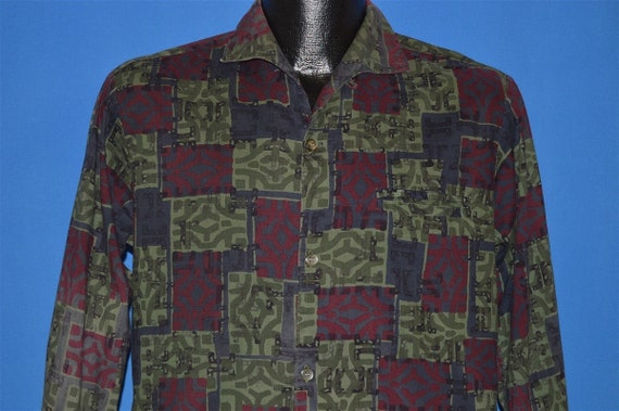 50s Pilgrim Tribal Blocks Men's Shirt Small