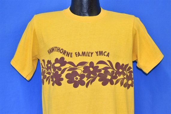 70s Hawthorne Family YMCA Yellow Hibiscus Flowers
