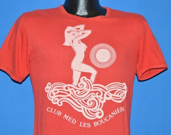 80s Club Med Les Boucaniers Sunset t-shirt Small
