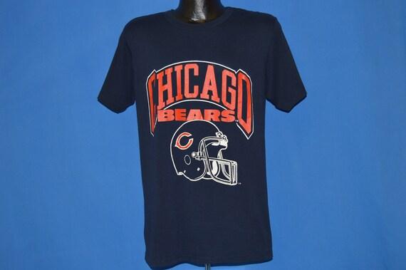 80 s Chicago Bears casque Large Logo t-shirt Large casque 29ecd9