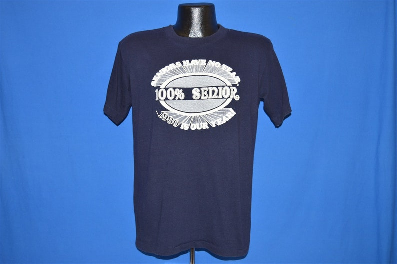 80s Seniors Have No Fear 1980 High School t-shirt Large