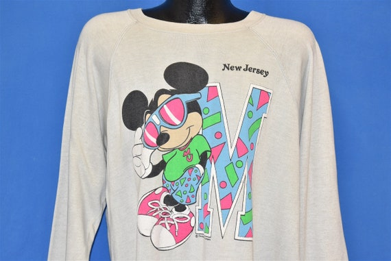 80s Mickey Mouse New Jersey Tourist Sweatshirt Ext