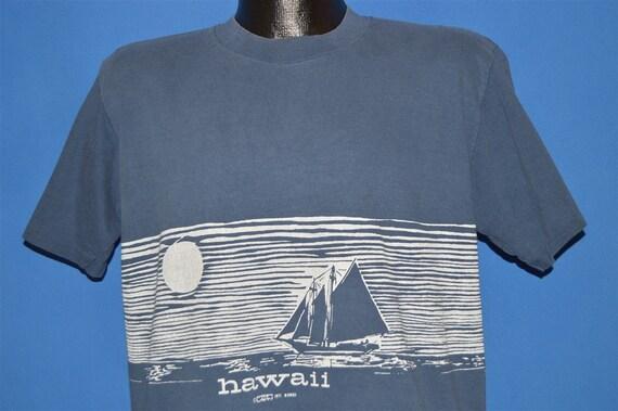 70s Hawaii Wrap Around Print Tourist t-shirt Large