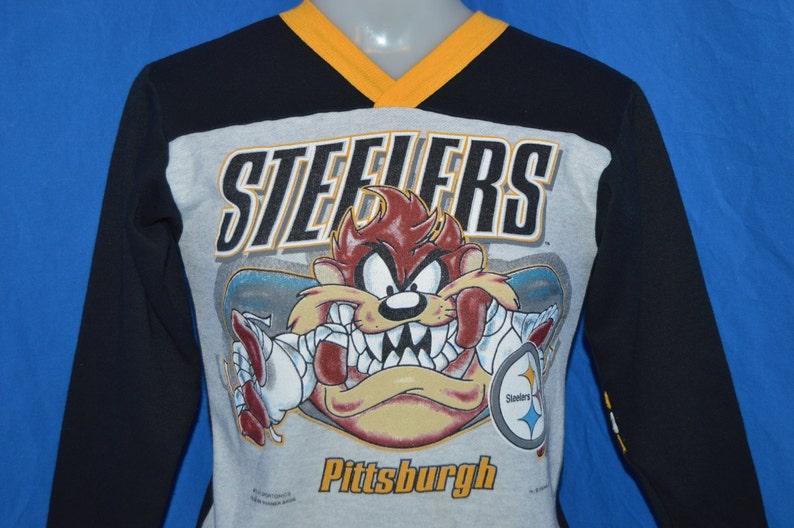 90s Pittsburgh Steelers Taz NFL Sweatshirt Youth Medium  ddff9eef9