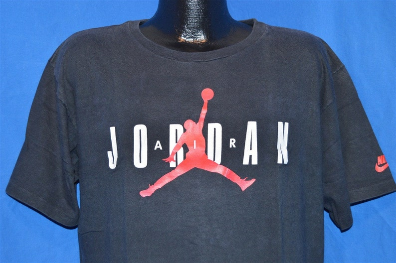 839b3682bc6b 90s Original Nike Air Jordan Slam Dunk Black Vintage t-shirt