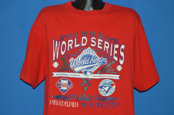 86dffef8c 90s 1993 World Series Phillies Blue Jays t-shirt Extra Large