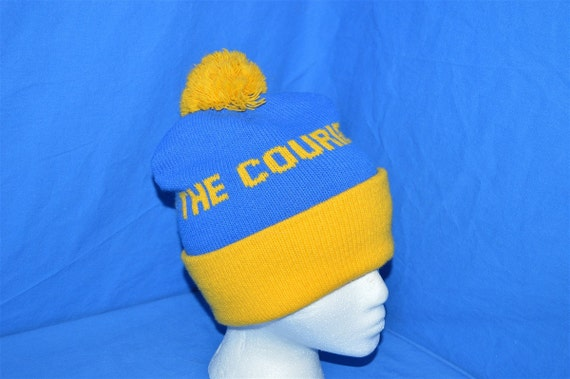 38c6508479f 80s The Courier Newspaper Bobble Winter Hat
