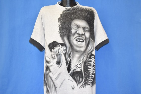 90s Jimi Hendrix Playing Guitar Airbrushed Roll Up