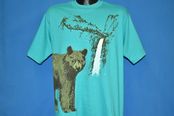 80s Yosemite Falls National Park Grizzly Bear t-sh