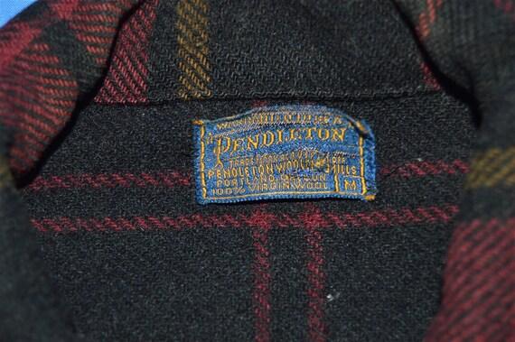 40s Pendleton Plaid Winter Wool Jacket Medium - image 5