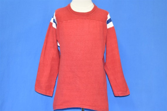 70s Blank Red Striped Blue White Mason Jersey t-s… - image 2