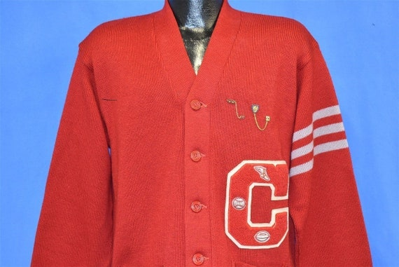50s Red Varsity Letterman Ping Pong Track 1953 CC… - image 1