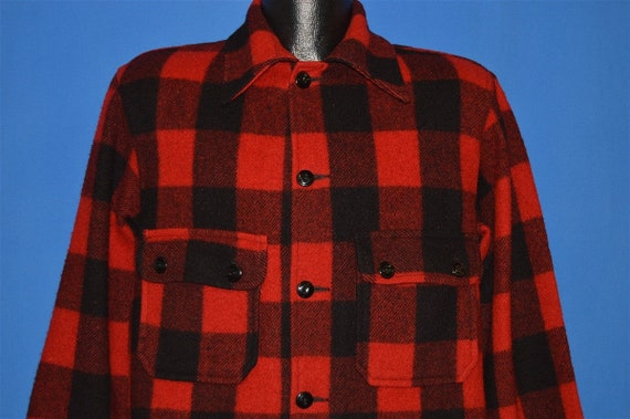 40s Chippewa Buffalo Plaid Wool Hunting Jacket Me… - image 1