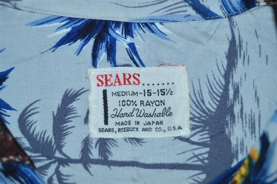 50s Sears Pineapple Rayon Aloha Hawaiian Shirt Me… - image 4