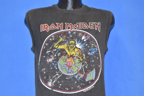 80s Iron Maiden World Piece Tour '83 Beast on Run… - image 1