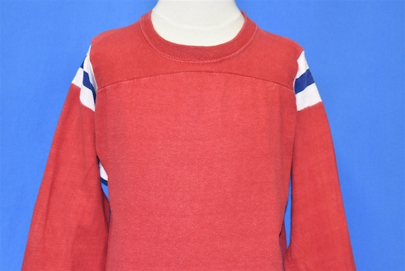 70s Blank Red Striped Blue White Mason Jersey t-s… - image 1