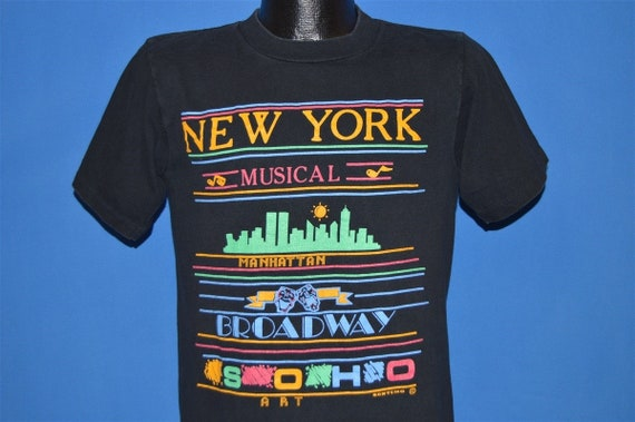 90s New York Musical Broadway Tourist t-shirt Medi