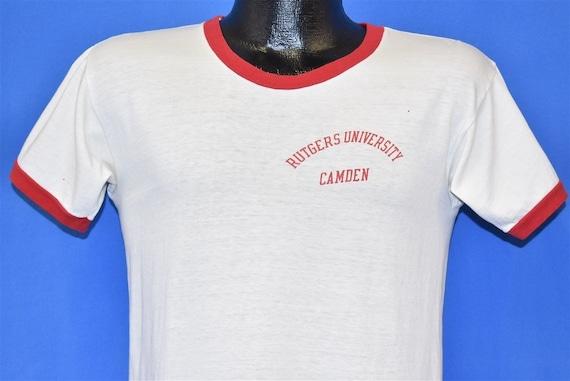 70s Rutgers University Camden Champion Ringer t-sh