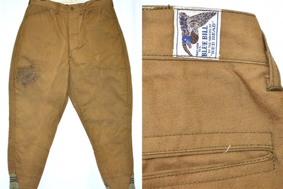 40s Blue Bill Duck Hunting Pants Size 32