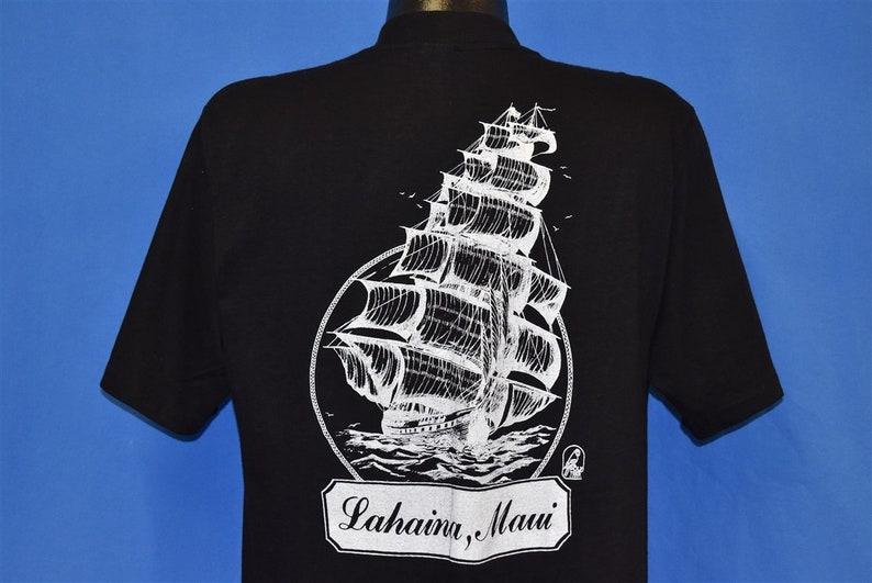 80s Lahaina Hawaii Sailboat Ocean Sailing Maui t-shirt Large Vintage Tee