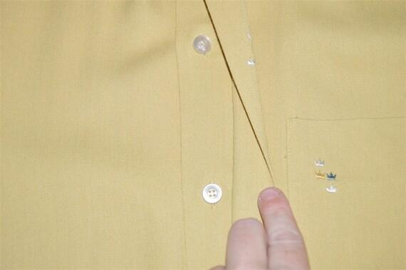 50s Sears Rockabilly Loop Collar Shirt Medium - image 4