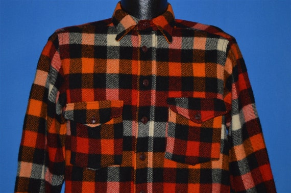 40s Woolrich Buffalo Plaid Flannel Shirt Medium