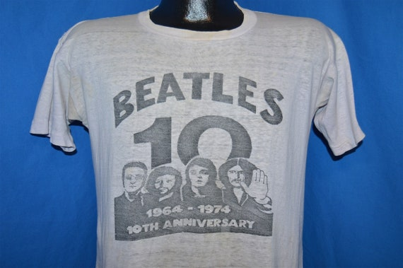 70s The Beatles 10th Anniversary 1974 Rock t-shirt