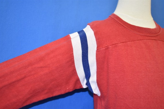 70s Blank Red Striped Blue White Mason Jersey t-s… - image 3