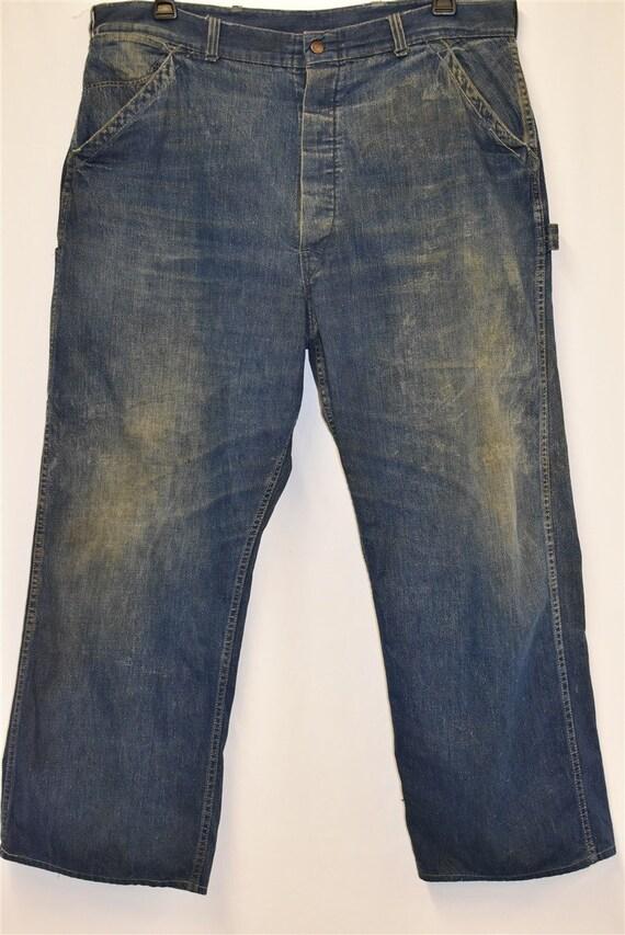 40s Railroad Carpenter Jeans Work Pants Size 40 - image 2