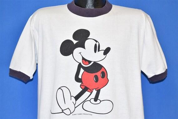 70s Mickey Mouse Walt Disney White Ringer t-shirt