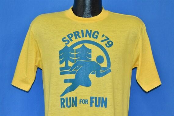 70s Spring 1979 Run for Fun Race Yellow Deadstock