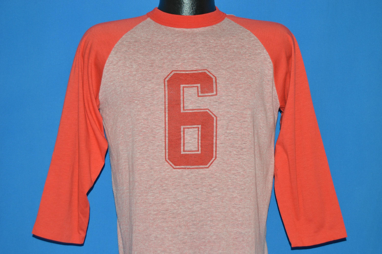 80 s #6 chinée Baseball Jersey t-shirt Medium Medium Medium 772b50