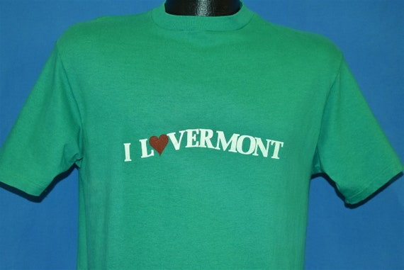 80s I Love Vermont t-shirt Medium