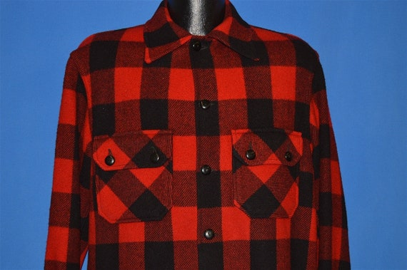 60s Chippewa Buffalo Plaid Wool Jacket shirt Mediu