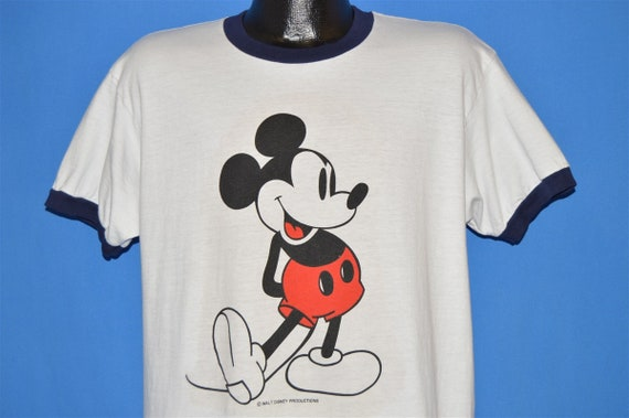 70s Mickey Mouse Cartoon Ringer t-shirt Large